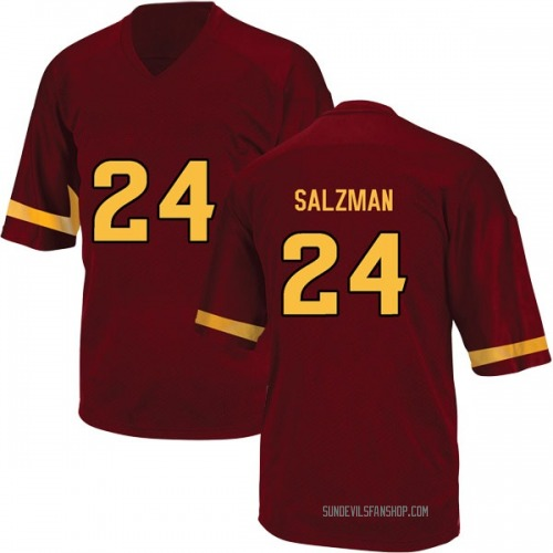 Youth Adidas Jordan Salzman Arizona State Sun Devils Replica Maroon Football College Jersey