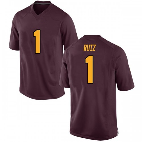 Youth Nike Brandon Ruiz Arizona State Sun Devils Game Maroon Football College Jersey