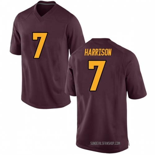 Youth Nike Dominique Harrison Arizona State Sun Devils Game Maroon Football College Jersey