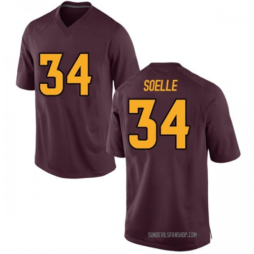 Youth Nike Kyle Soelle Arizona State Sun Devils Game Maroon Football College Jersey