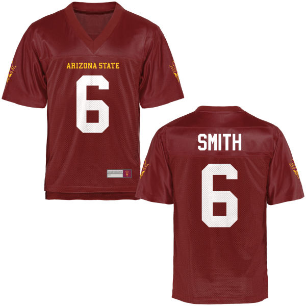 Youth Cameron Smith Arizona State Sun Devils Game Football Jersey Maroon