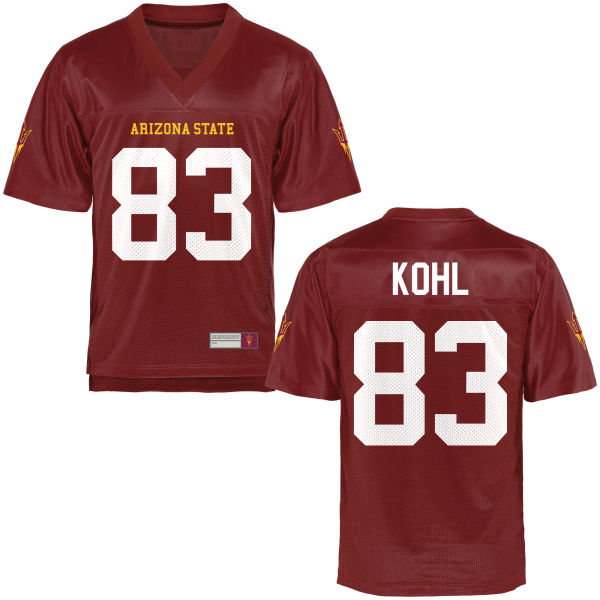 Men's Kody Kohl Arizona State Sun Devils Game Football Jersey Maroon