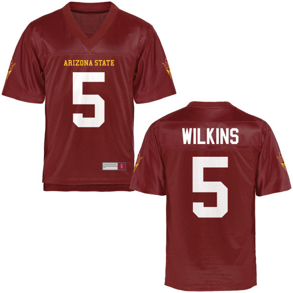 Men's Manny Wilkins Arizona State Sun Devils Game Football Jersey Maroon